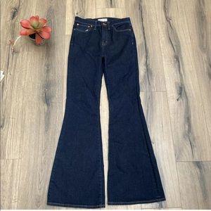 Madewell Flea Market Flare Jeans Size 27 Dark Wash